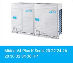 Midea V4 Plus K Serisi 20 22 24 26 28 30 32 34 36 HP